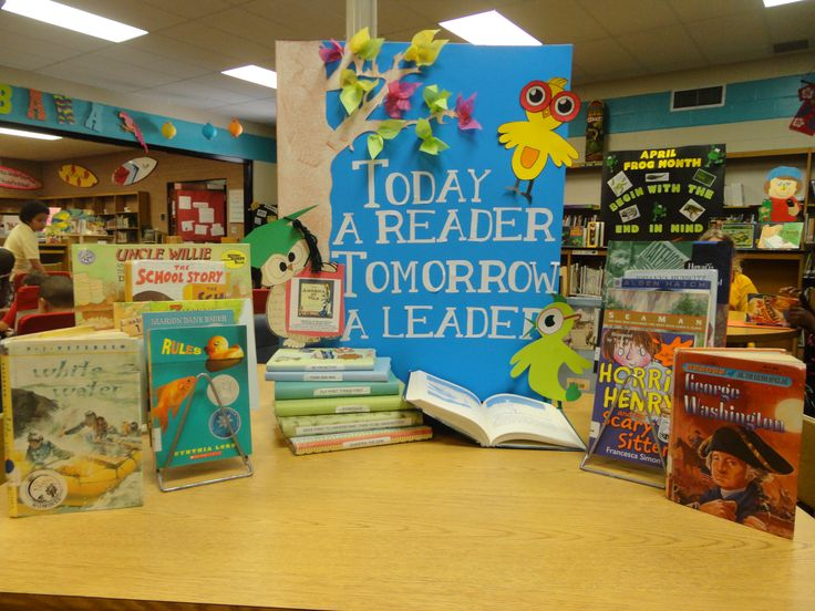 My first display :) Leader in Me library display! For the Myrtle Beach Intermediate Covey 7 Habits Leader in Me Symposium! Got the idea from a poster I saw on Pinterest!... created by Kendal Jordan