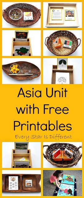 Montessori-inspired Asia Unit with free printables