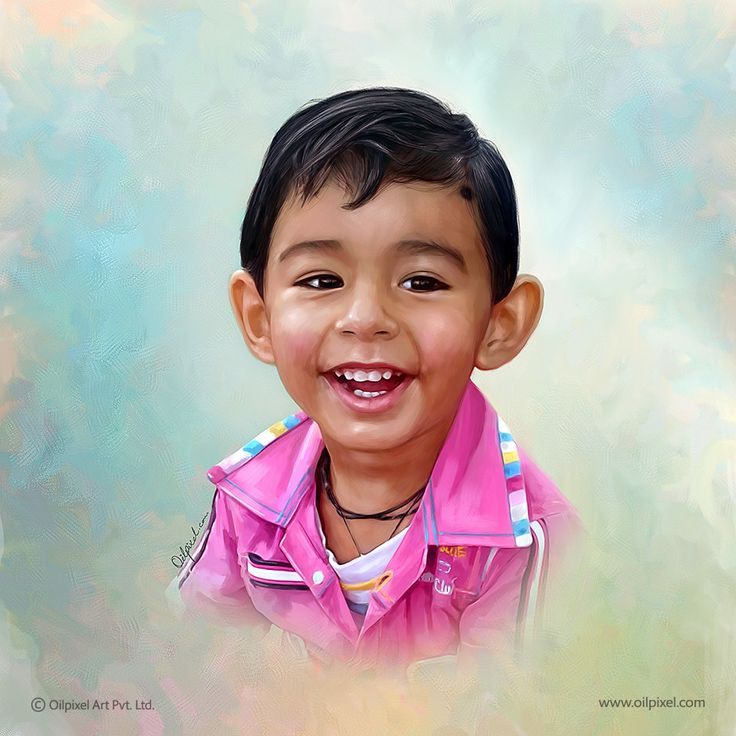 Child digital #painting. Oilpixel creates masterpiece of art that your kid would adore to the rest of life. Order now for your #child's digital portrait painting. #ChildPainting