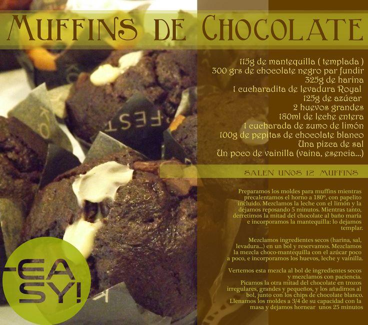 #muffins de #chocolate