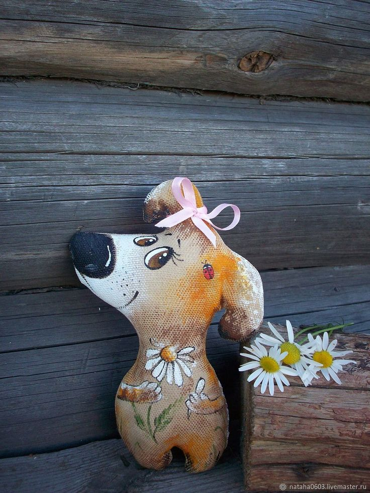 Купить Погадаю на ромашке....Кофейная собачка. Роспись в интернет магазине на Ярмарке Мастеров