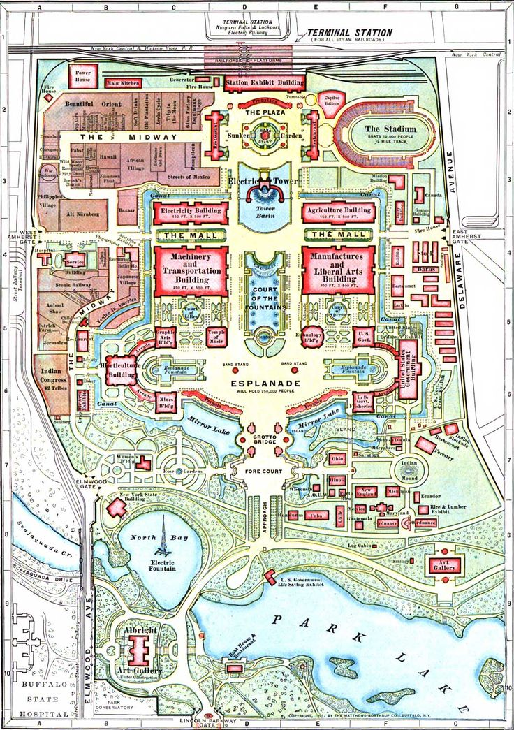1901 pan american expo pavilions | Pan American Exposition Buffalo 1901