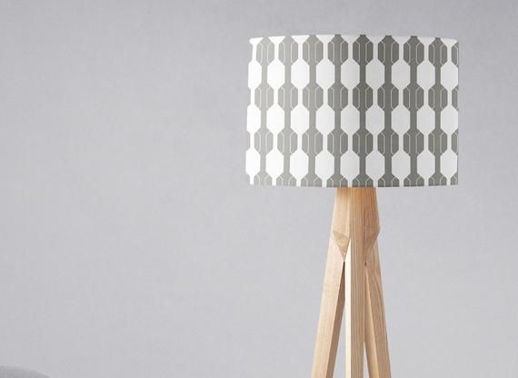 Grey And White Lampshade Grey Lamp Shade Grey White Decor Etsy Floor Lamp Shades White Lamp Shade Grey Lamp Shades