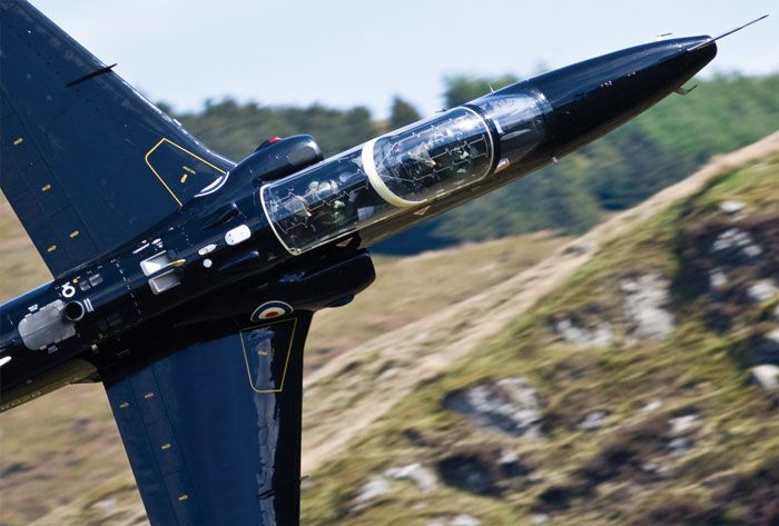 Hawk T2 from RAF Valley (a station on the island of Anglesey, Wales).