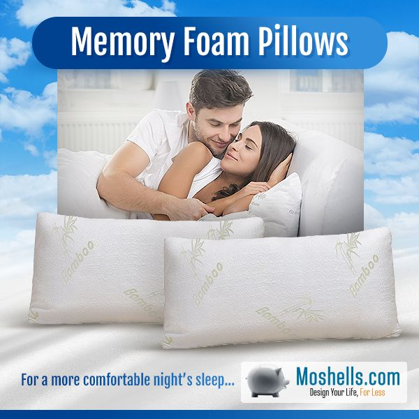 bounce comfort serenity memory foam bed pillow
