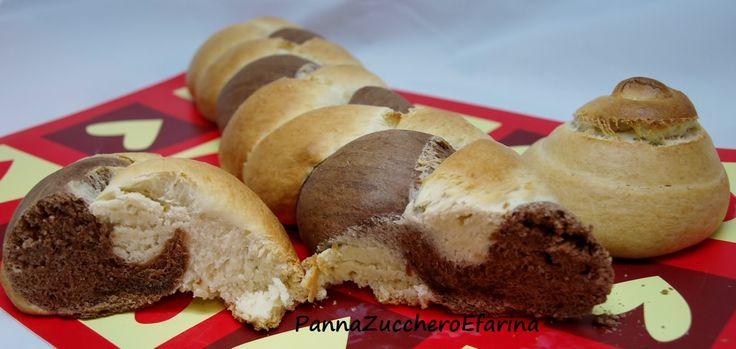 Treccia bicolore di pan brioche (con pasta madre)