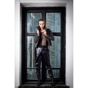 Glamojuice by M.R.Y. - czarne spodnie z zakładkiami
