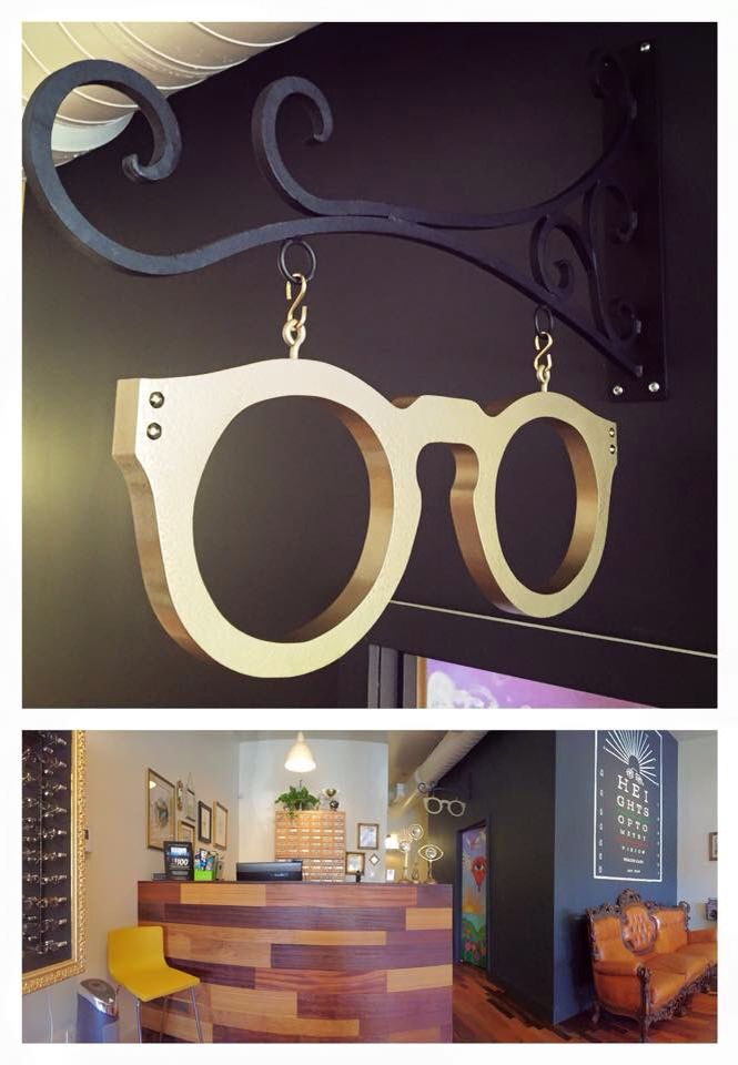 A two foot frame painted hammered metal gold for a fantastic new optical shop…                                                                                                                                                                                 More