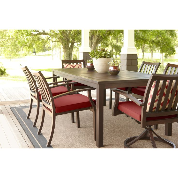 Shop Allen + Roth Gatewood 41.85 In W X 75.83 In L Rectangle Aluminum ·  Patio DiningPatio TablesDining TablesPatio Furniture CushionsAllen ... Part 94