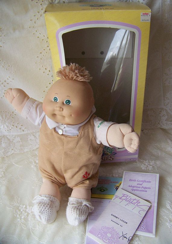 Vintage Cabbage Patch Doll.1982 Cabbage Patch Preemie