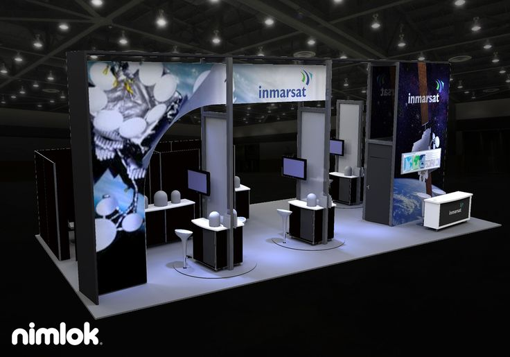 Fabric Exhibition Stand Examples : This high impact island exhibit design features a