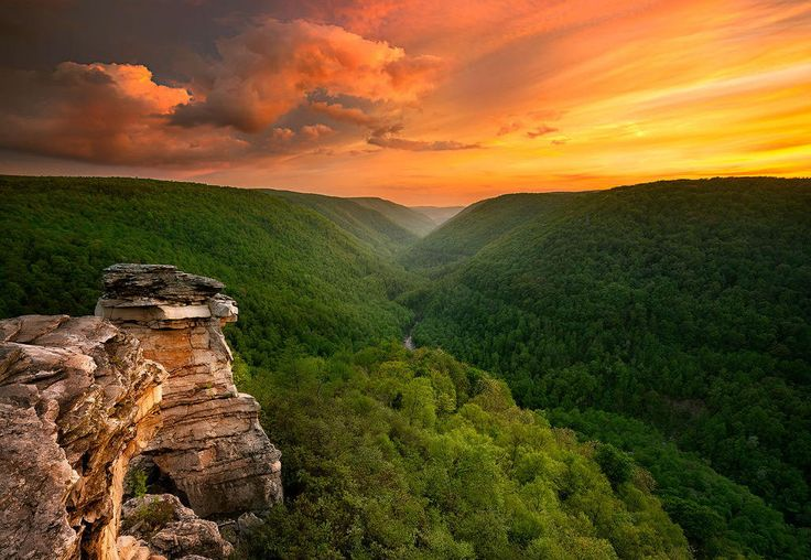 Sunset At Blackwater Falls State Park, West Virginia Photography By: Steve Perry