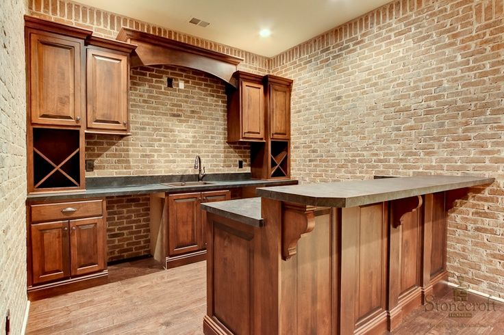 brick bar | pub style bar with brick accent walls. | Our Dream Home