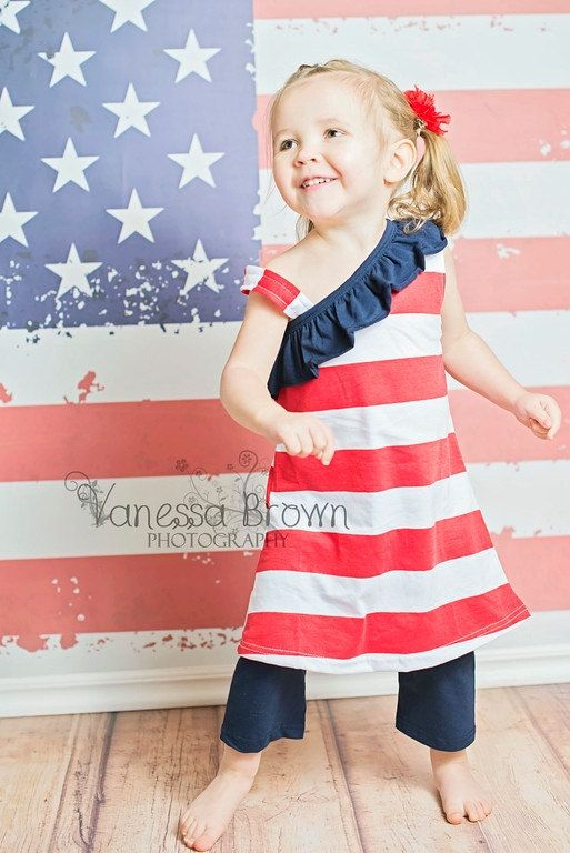 Little Girls 4th of July Patriotic Red, White and Blue Striped Shorts Set Baby Girls Clothes Toddler Outfits Sets 4th of July Babies by BabyGirlTutus on Etsy