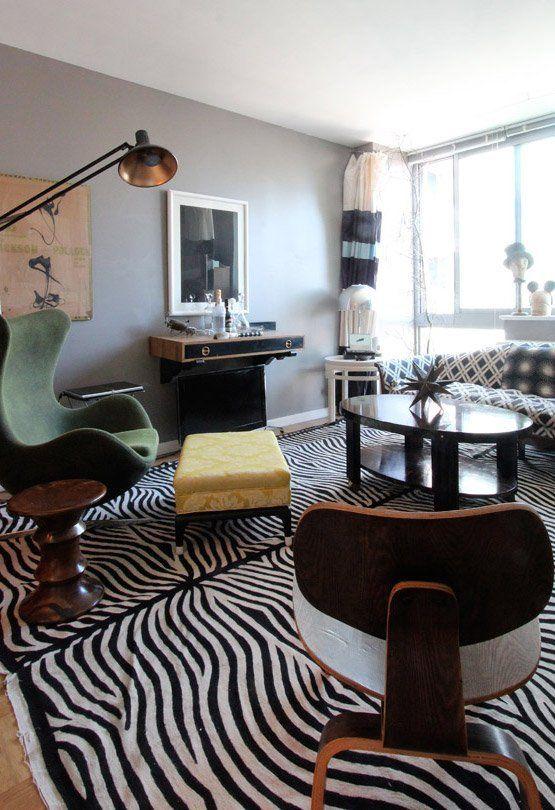 Zebra Decor Living Room