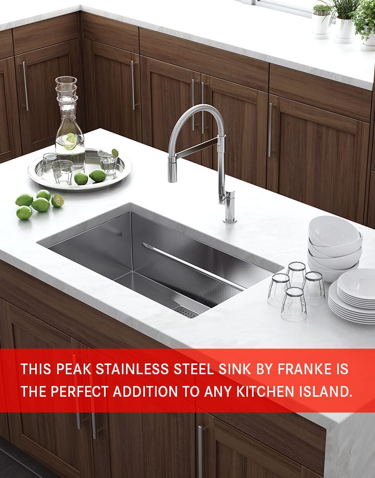 This Peak Stainless Steel sink by Franke is the perfect addition to any kitchen island.