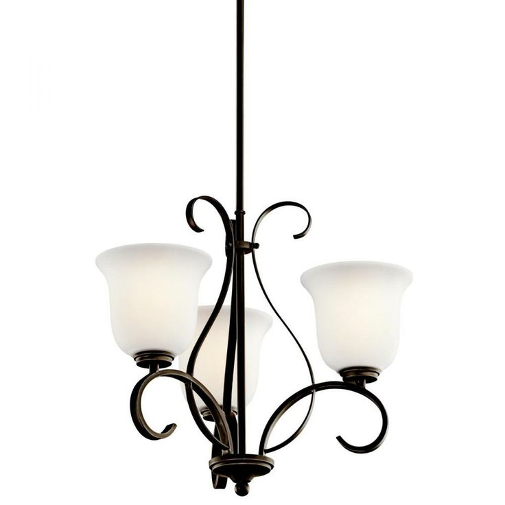 This Traditional Bronze 3-light Up Chandelier From Kichler