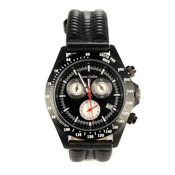Ρολόι Swiss Golfer ανδρικό, χρονογράφος 4869, δέρμα 393SW
