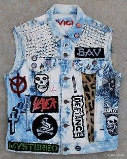 Grunge Jean Vest