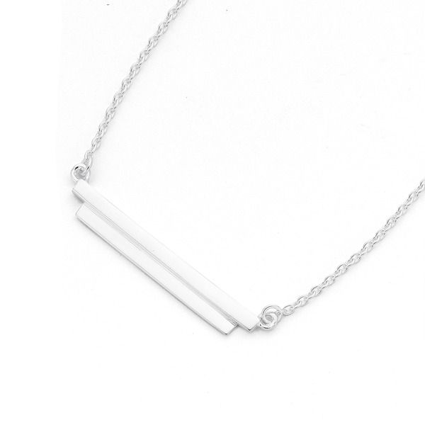 Sterling Silver Double Bar Necklet!