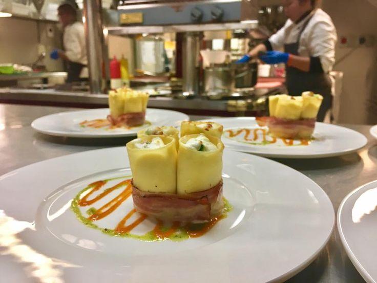 Una prima portata offerta dallo chef Walter Bianconi #dovevuoicatering #staff #Bianconi #villarota