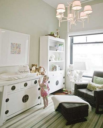 All about non over the top colors for a babies room.  Love It!!