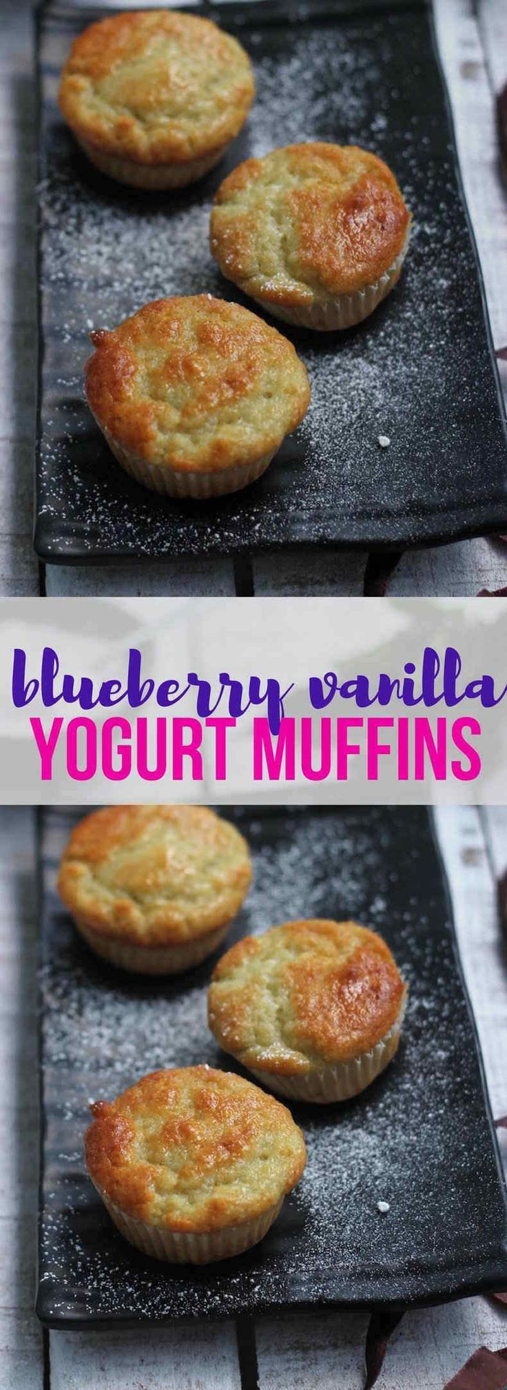 These Blueberry Vanilla Yogurt Muffins made with the addition of blueberry and vanilla yogurt are deliciously fruity muffins that you can make even if you don't have blueberries on hand