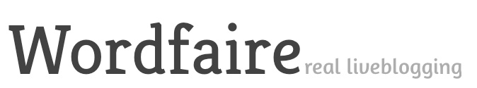 WORDFAIRE - A live blogging platform, allowing more than 140 characters. Login with Google, Twitter, or Facebook required. Upload a picture if you'd like, and updates are instant -  a constant stream of information that can be embedded on your site.