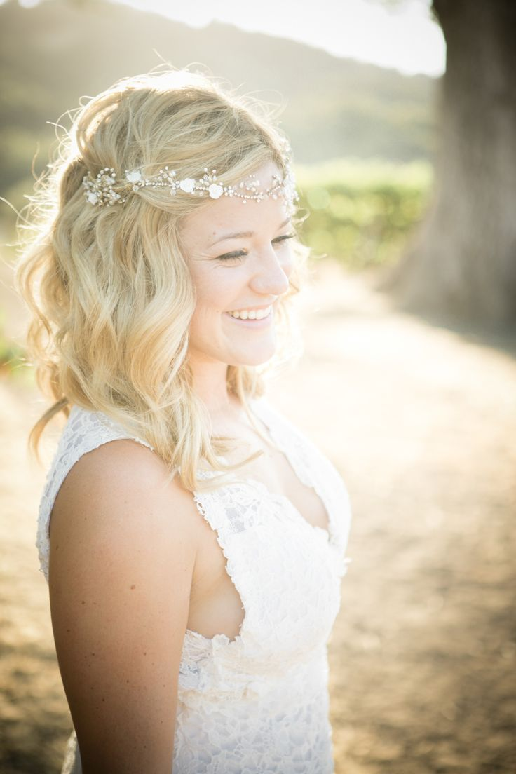 Outdoor Vineyard Wedding with a Shabby Chic Vibe -- See more on http://www.StyleMePretty.com/california-weddings/2014/03/29/rustic-romance-at-hammersky-vineyards/ TrinityWheelerPhotography.com on #smp