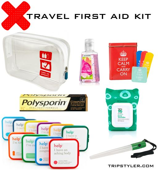 Travel Tips Packing Hacks Tips Essentials: Packing Tip :: First Aid Kit