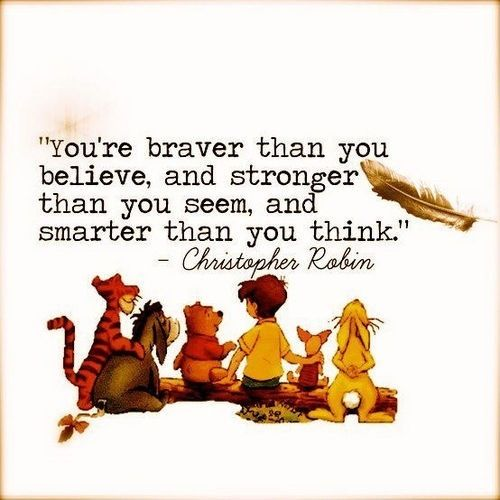 I love Winnie the Pooh! / quotes for strength and confidence