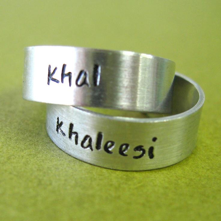 Khaleesi And Khal Rings