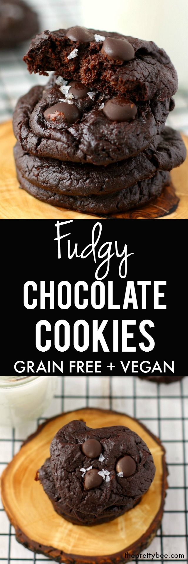 Grain free fudgy chocolate cookies with a secret ingredient! Your family will love these chocolatey treats.