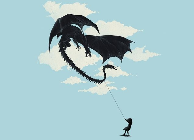 """LITTLE GIRL PLAYING"" - Threadless.com - Best t-shirts in the world"