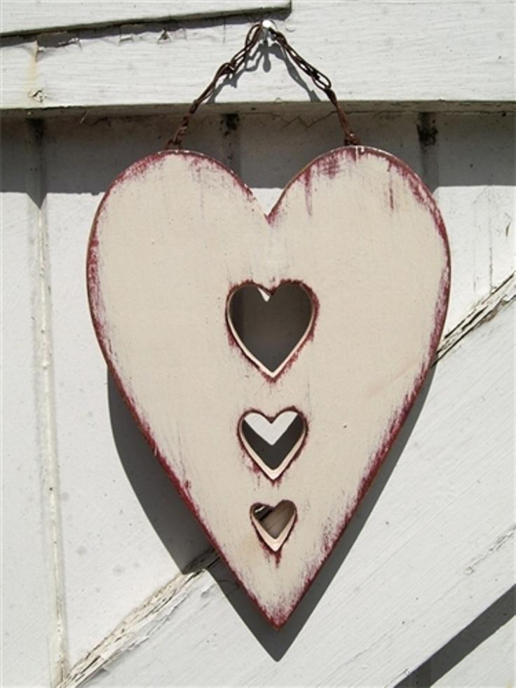 Wooden folk art heart                                                                                                                                                     More