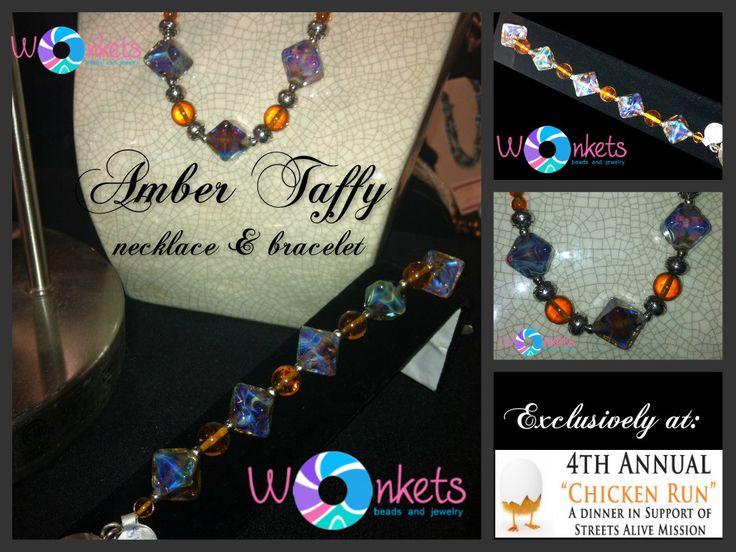 Amber Taffy necklace bracelet set