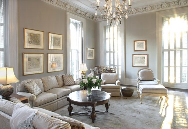 Inspired italianate living room in this savannah home for Living room ideas homebase