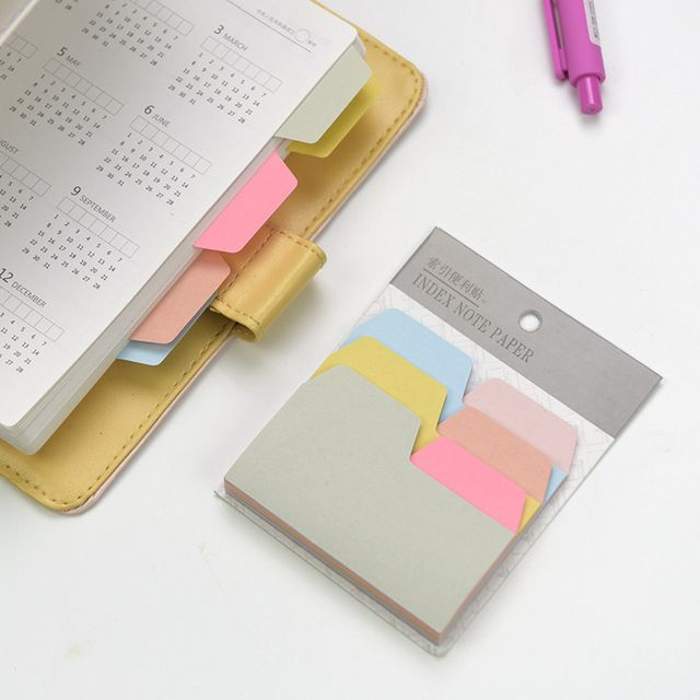 6 Colors 90 Sheets Writable Index Note Paper Sticky Notes Post It Stationery Office Accessory School Supplies