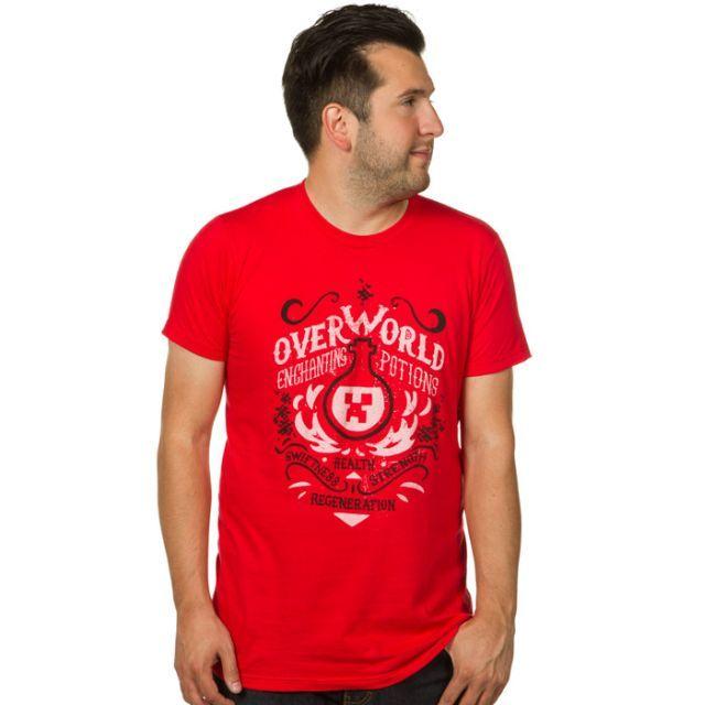 Minecraft Overworld Enchanting Potions T-Shirt - Gamer T-Shirt