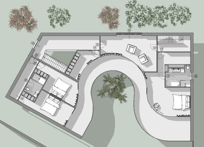 Viviendas Unifamiliares Arquitectos Famosos Casa Kwantes Planta Primer Nivel Arquitectos Famosos Planos De Casa Unifamiliar Arquitectos