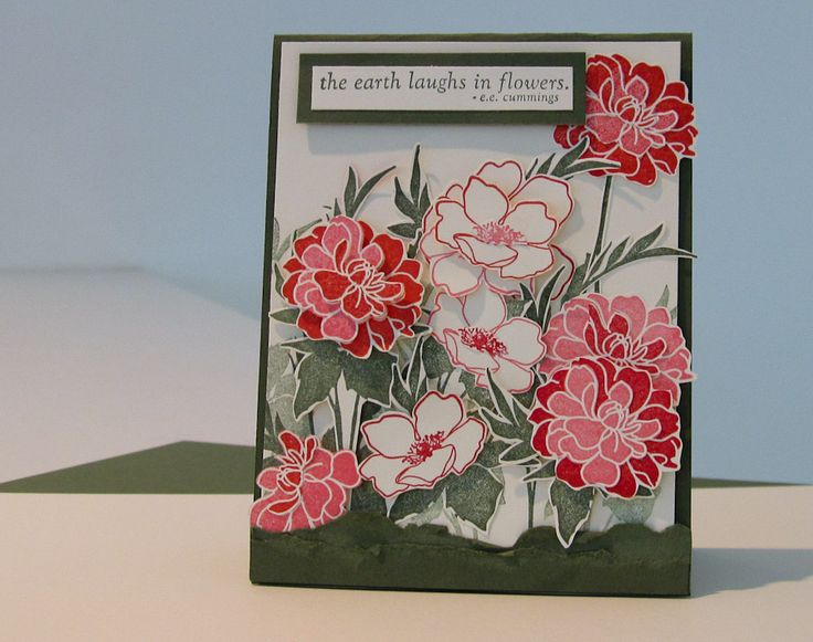 Fabulous FloretsStampin' Up! Fabulous Florets (Summer Mini) Stampin' Up! Always Artichoke & Very Vanilla Card Stock Real Red, Regal Rose, Poppy Parade & Always Artichoke Classic Stamp Pad.-
