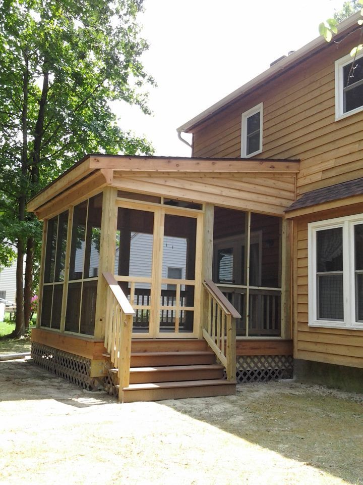 11 best screen room ideas images on pinterest porch for Screen room addition plans
