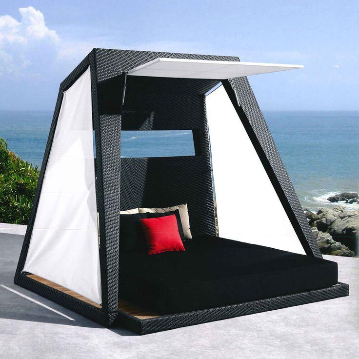 Leżaki, siedziska, leżanki : Palace - meble ogrodowe z technorattanu leżanka łoże - Twoja Siesta