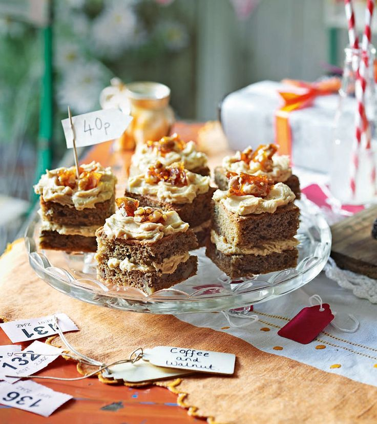 A classic coffee and walnut sponge cake recipe, with a creamy coffee icing and walnut praline topping for added wow factor.