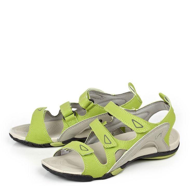 Женские желтые сандалии CROSBY в спортивном стиле.