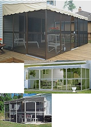 Patio mate screen room mobile home advantage idea for for Modular screen porch