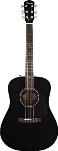 Fender CD 60 Dreadnought Acoustic Guitar, Black