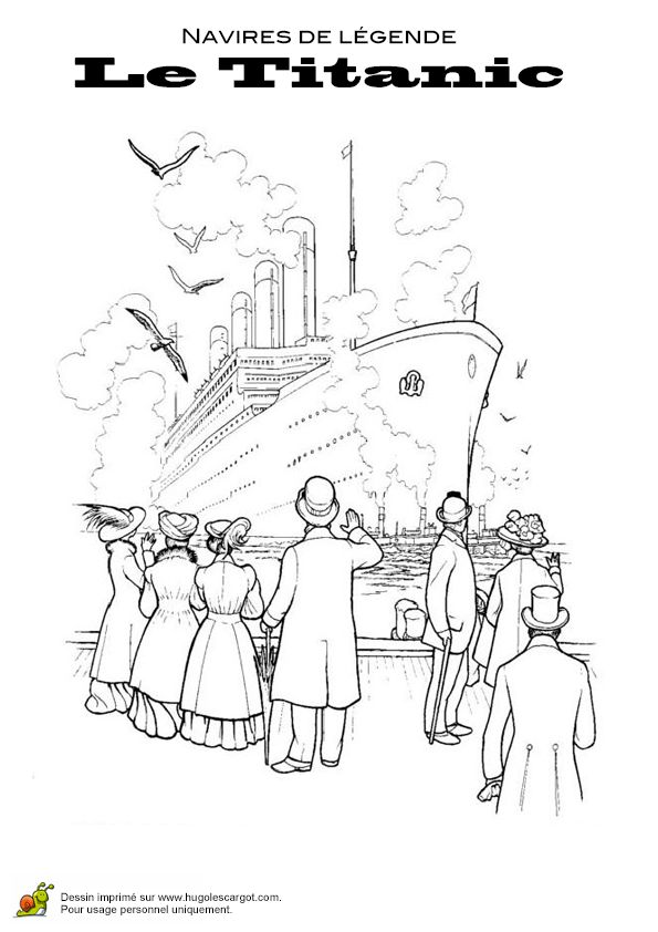 Image 224 Colorier Du Titanic Quittant Le Port Coloriages