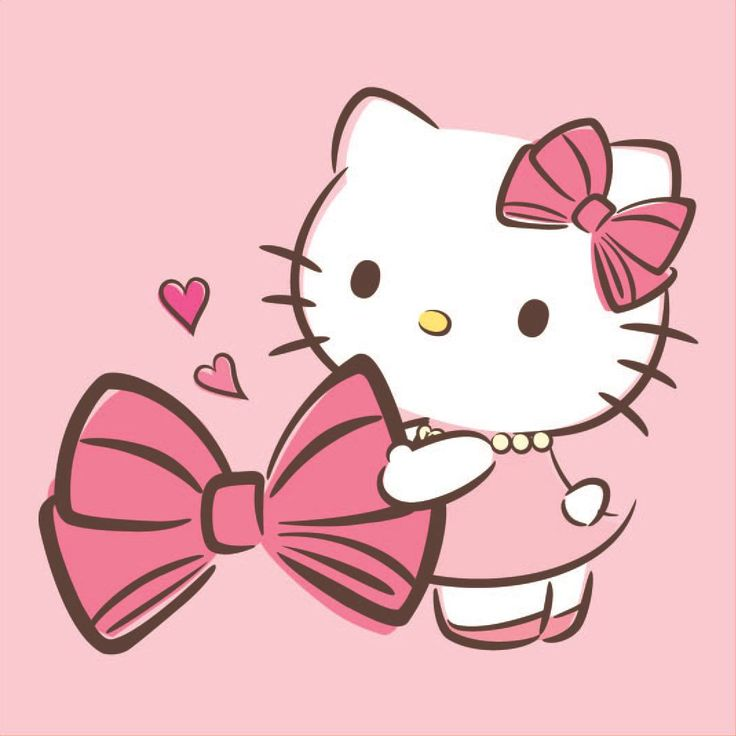 Hello Kitty & her beloved bow ♪(´ε` )