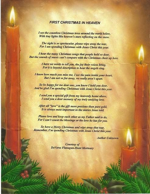 I know this poem was written for the loss of our human loved ones, but I still loved thinking about my dogs being in heaven with Jesus the first Christmas I was without them. It helped